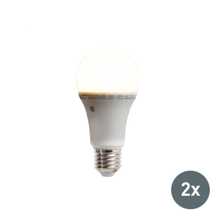 Set-de-2-bombillas-LED-con-sensor-crepuscular-E27-9W-806-lúmenes-blanco-cálido-2700K