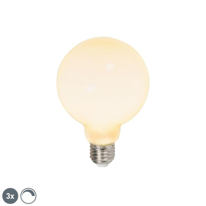 Set-3-bombillas-LED-E27-G95-240V-6W-650lm-regulables