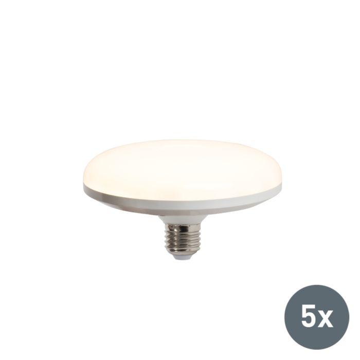 Set-de-5-bombillas-LED-UFO-E27-18W-blanco-cálido