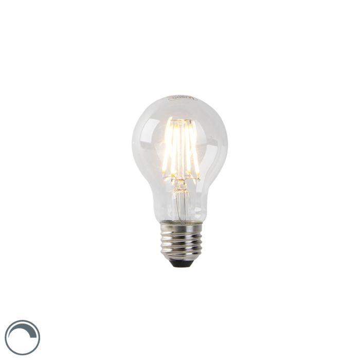 Bombilla-filamento-LED-regulable-E27-A60-transparente-4W-300lm-2200K