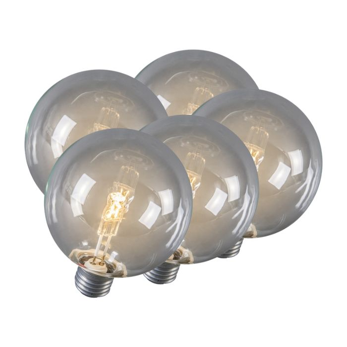 Set-de-5-bombillas-globo-halógena-E27-95mm-28W