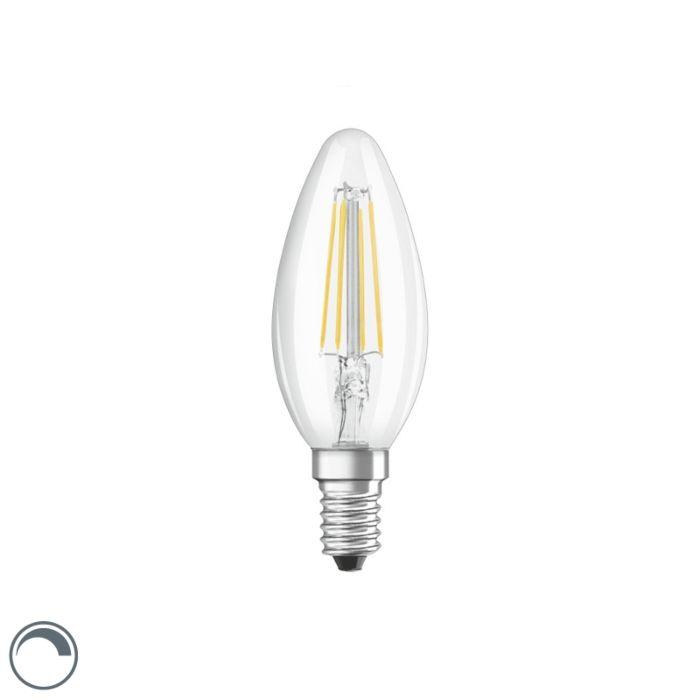 Bombilla-vela-filamento-LED-regulable-E14-B35-transparente-5W-470lm-2700K
