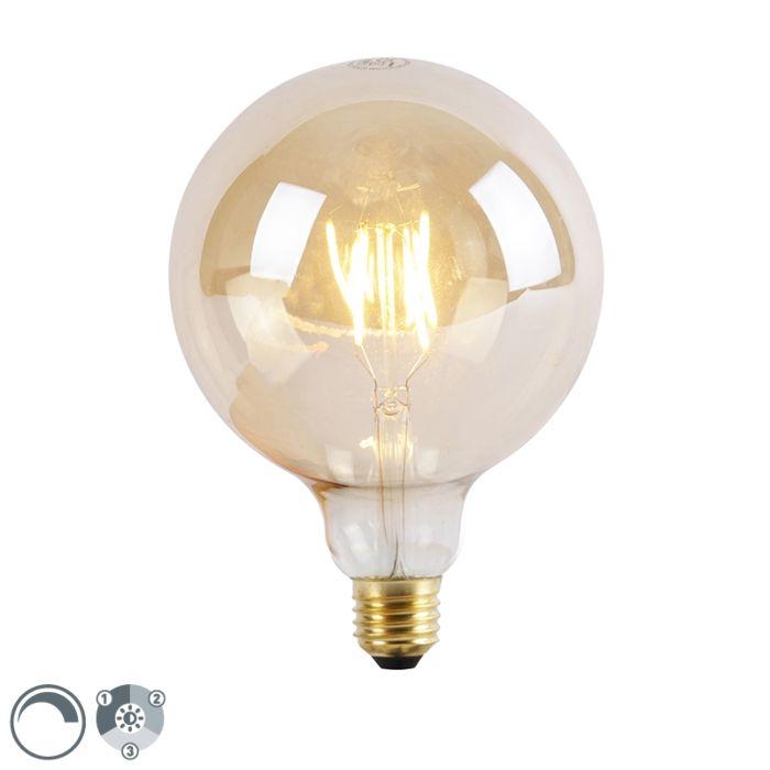 Bombilla-LED-E27-regulable-3-niveles-G125-Goldline-5W-2200K