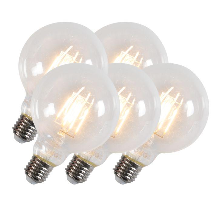 Set-de-5-bombillas-de-filamento-LED-G95-E27-6W-600-lúmenes