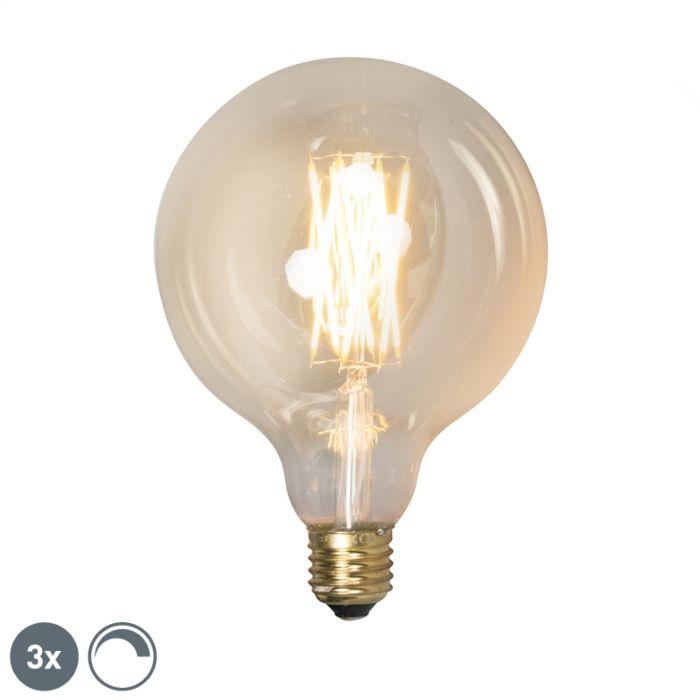 Set-3-bombillas-filamento-LED-regulables-E27-G125-GOLDLINE-320lm-2100-K