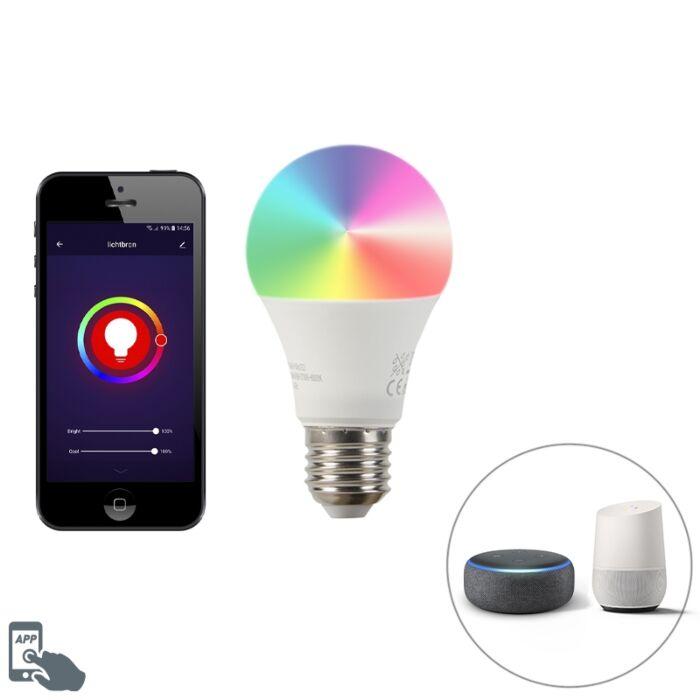 Bombilla-LED-Smart-E27-regulable-2200-4000K-A60-9W-700lm-