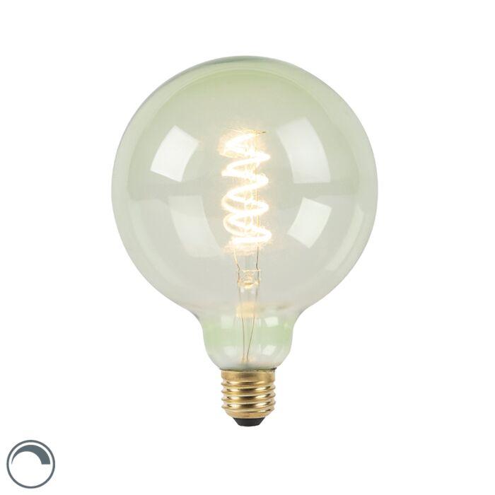 Bombilla-filamento-espiral-verde-LED-regulable-E27-G125-200lm-2100K