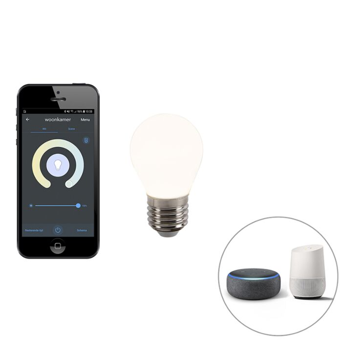 Bombilla-LED-regulable-E27-P45-WiFi-Smart-app-400-lm-2200-4000K
