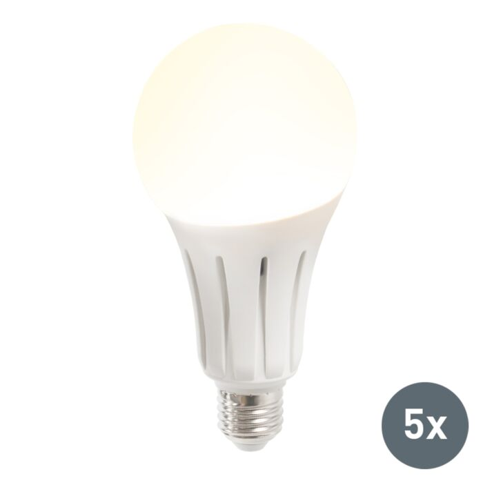 Set-de-5-bombillas-LED-B60-15W-E27-blanco-cálido