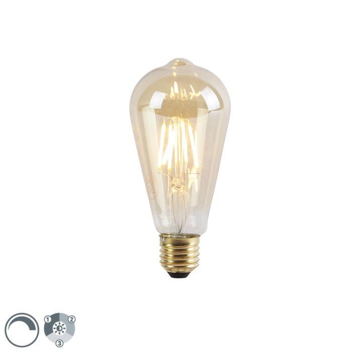 Bombilla-LED-regulable-E27-3-niveles-ST64-goldline-5W-550-lm-2200K
