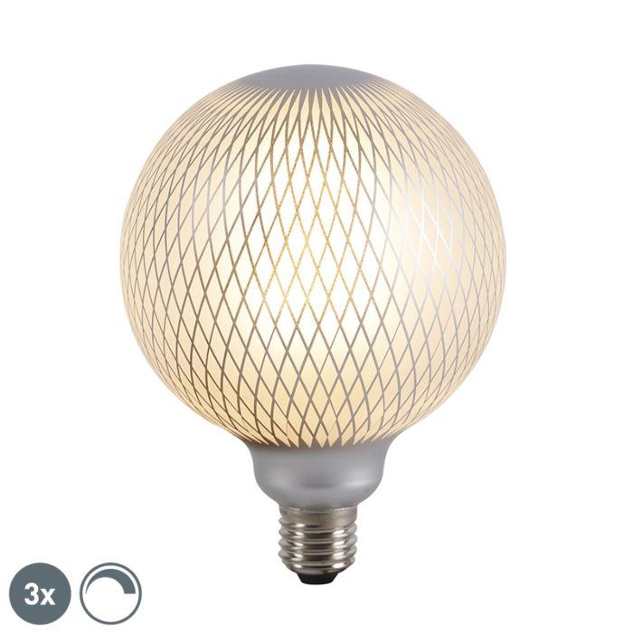 Set-de-3-bombillas-LED-globo-E27-regulables-DECO-4W-320-lm-2700K
