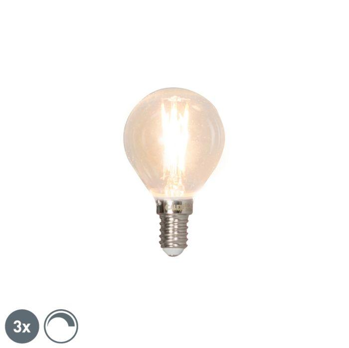 Set-de-3-bombillas-LED-filamento-E14-3W-350lm-2700K-regulable