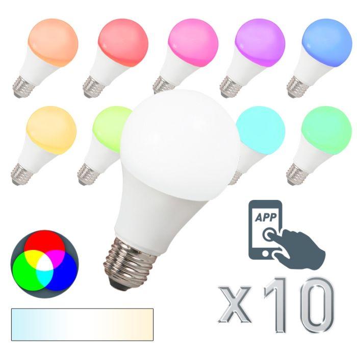 Set-de-10-bombillas-LED-E27-240V-7W-500lm-A60-Smart-Light