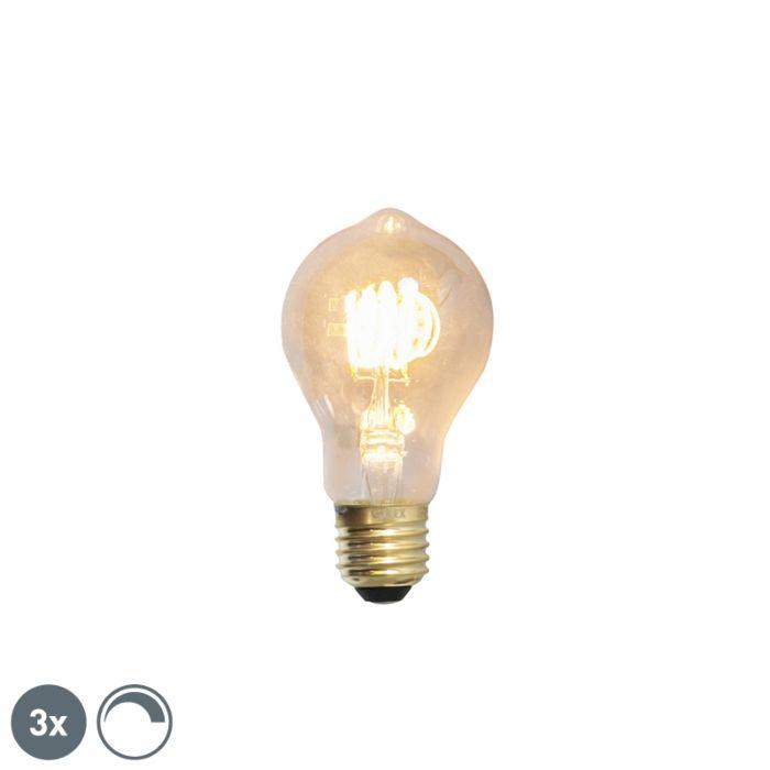 Set-3-bombillas-E27-filamento-LED-regulables-4W-200lm-2100K