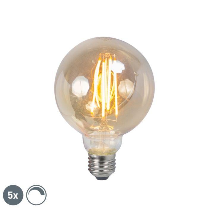 Set-de-5-bombillas-LED-E27-450lm-cristal-ahumado