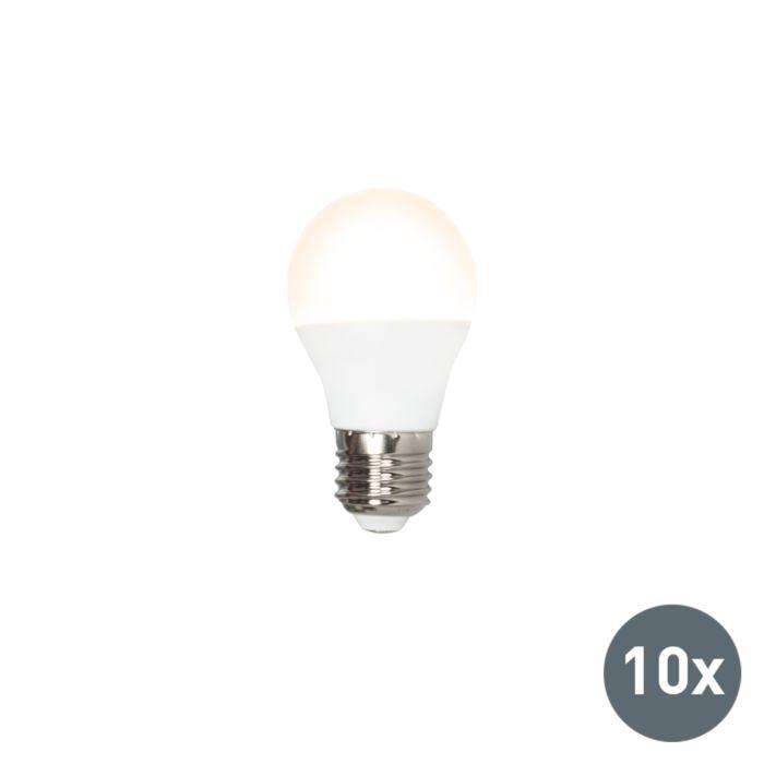 Set-de-10-LED-bombillas-G45-E27-3W-3000K