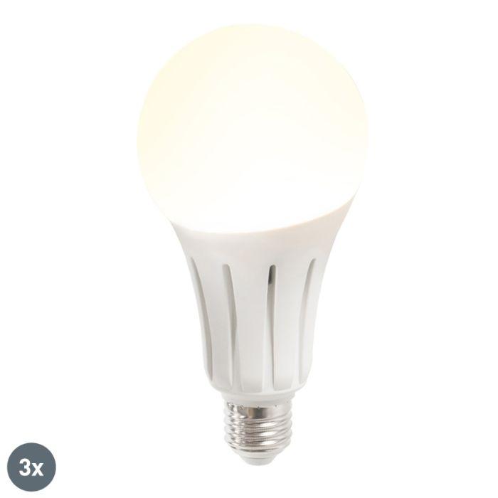 Set-de-3-bombillas-LED-B60-18W-E27-blanco-cálido