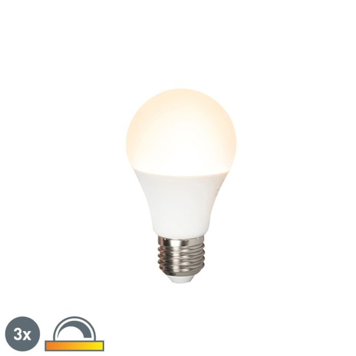 Set-3-bombillas-LED-E27-240V-7W-510lm-A60-regulable