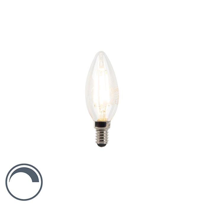 Bombilla-E14-vela-filamento-LED-regulable-3W-300lm-2700K