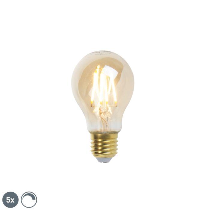 Set-5-bombillas-filamento-LED-regulables-E27-GOLDLINE-360lm-2200K