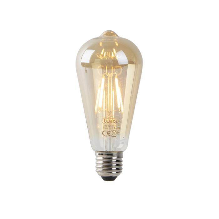 Bombilla-filamento-LED-ST64-4W-2200K-dorado-sensor-crepuscular