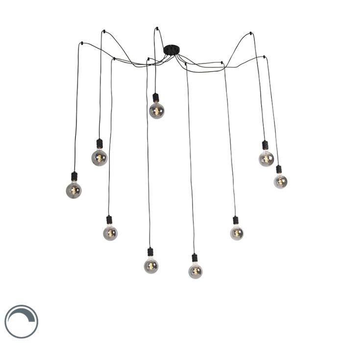 Lámpara-colgante-negra-LED-9--bombillas-smart-G125---CAVALUX