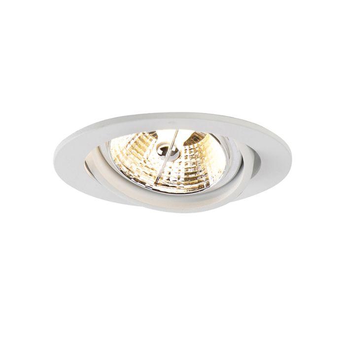 Moderne-ronde-inbouwspot-wit-AR70---Cisco