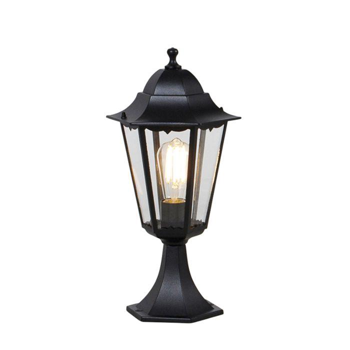 Pedestal-clásico-negro-48,6cm-IP44---NEW-ORLEANS