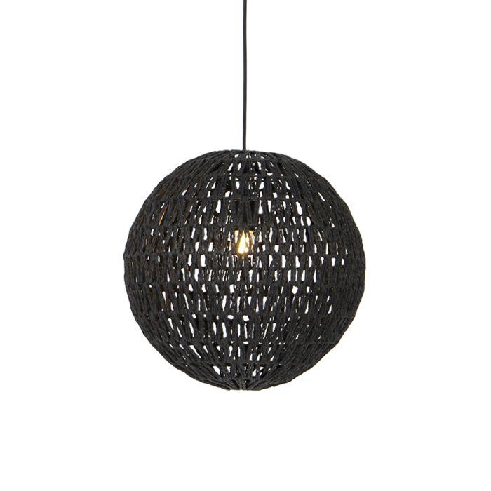 Lámpara-colgante-retro-negro-40cm---LINA-Ball