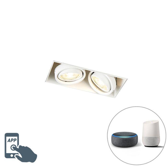 Foco-empotrable-blanco-trimless-2-bombillas-WiFi-GU10---ONEON-2