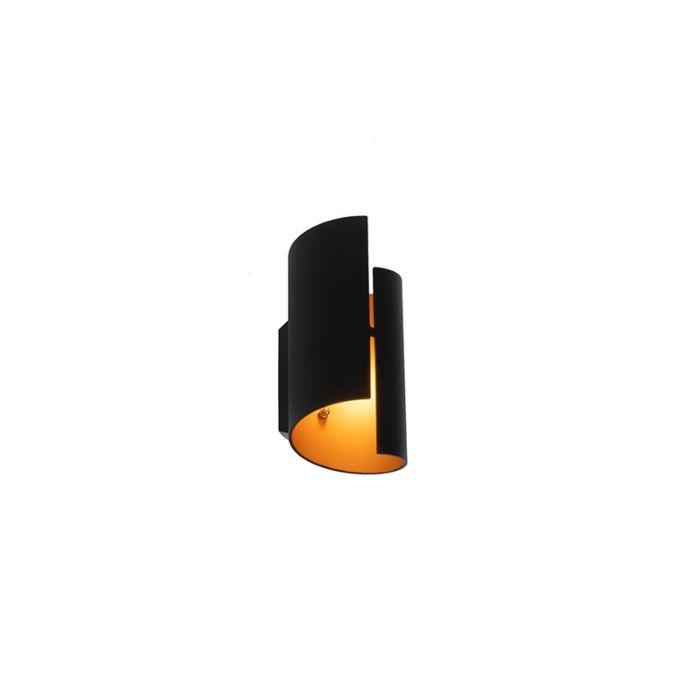Aplique-diseño-negro/oro---FALDO