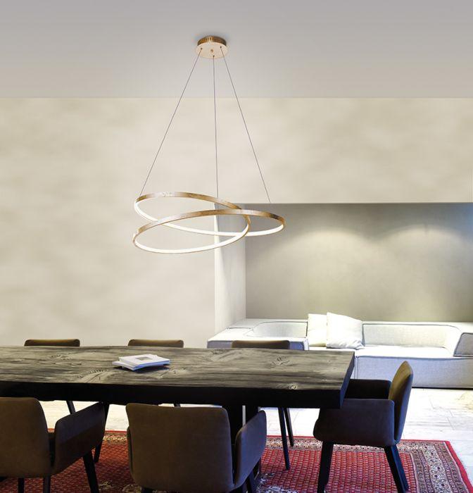 Lámpara-colgante-diseño-dorada-72cm-LED-regulable---ROWAN