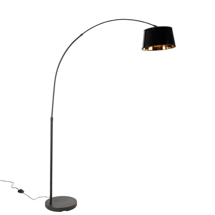 Lámpara-de-arco-moderna-negra/oro---ARC-Basic