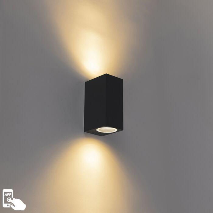 Aplique-negro-bombillas-2-WiFi-GU10-IP44---BALENO-II