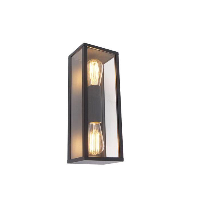 Aplique-industrial-negro-38cm-2-luces-IP44---CHARLOIS