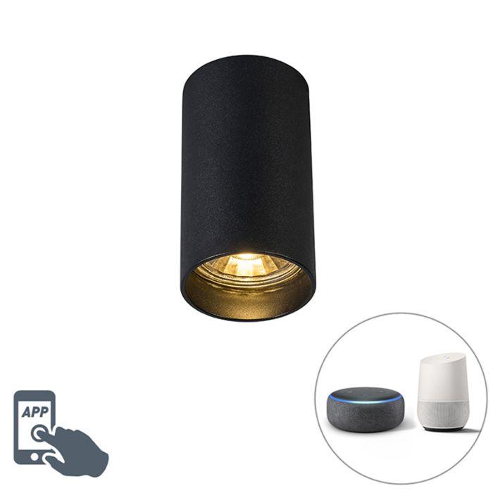 Foco-moderno-negro-bombilla-WiFi-GU10---TUBA-1