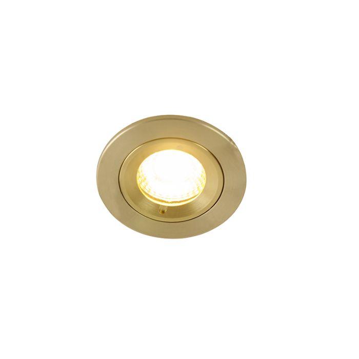 Foco-empotrable-moderno-dorado-7,8cm-IP44---XENA-Round