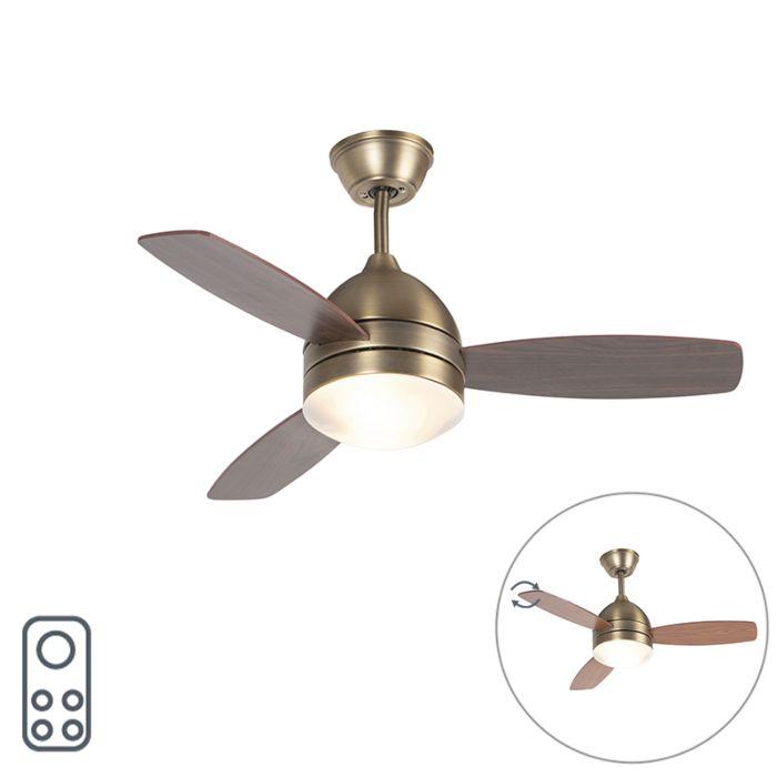Ventilador-de-techo-bronce-mando-distancia---ROTAR