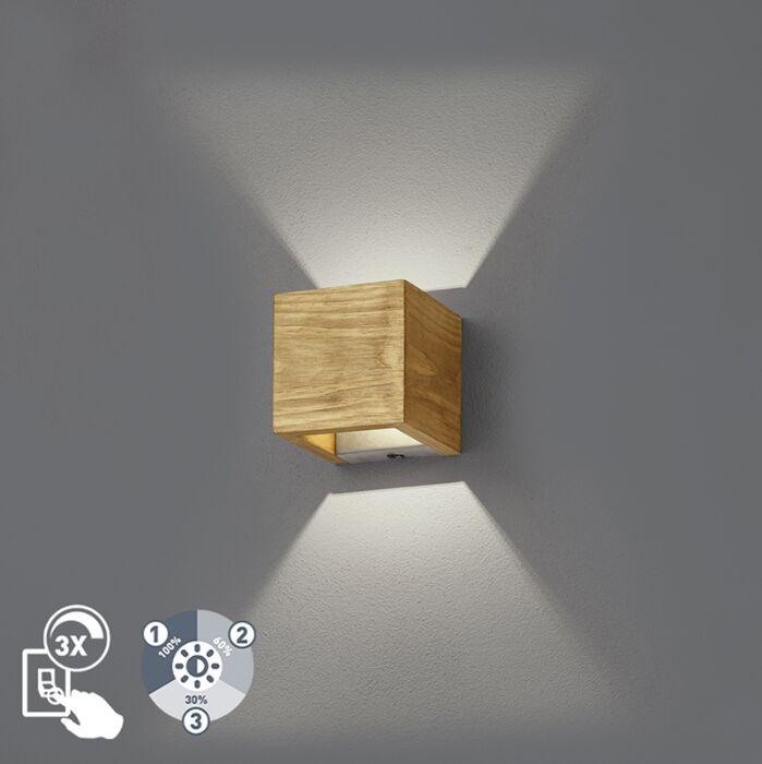 Aplique-rústico-madera-11cm-regulable-3-estados---LINC