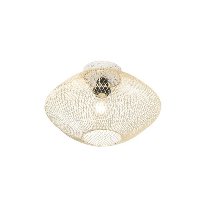 Lámpara-de-techo-diseño-blanco-latón---ELLA