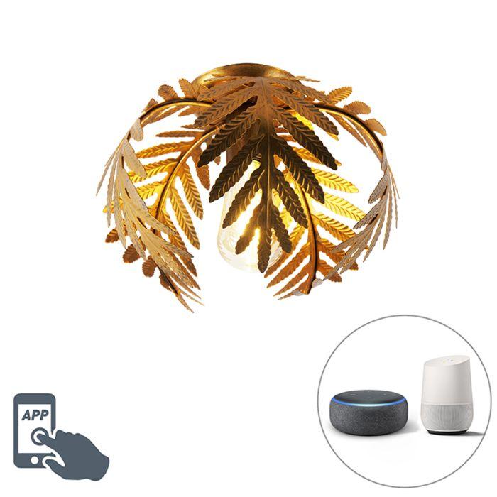 Lámpara-de-techo-elegante-vintage-dorado-24cm-WiFi-ST64---BOTANICA