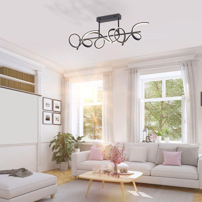 Plafón-diseño-negro-regulador-LED---KRISSCROSS