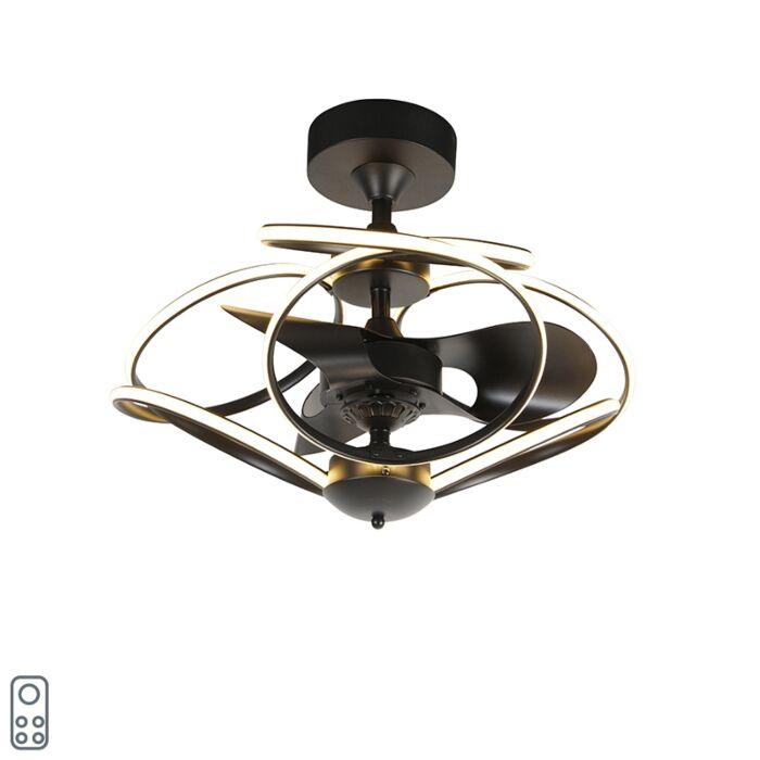 Ventilador-de-techo-diseño-negro-mando-distancia-LED---KAUV