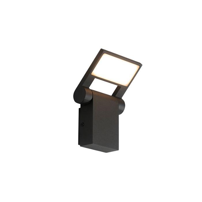 Aplique-exterior-antracita-LED-IP54-orientable---ZANE