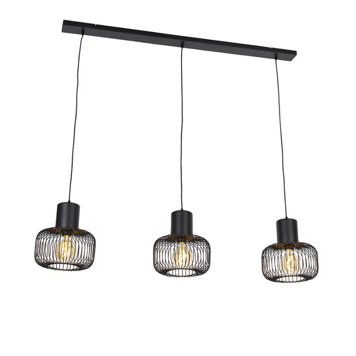 Lámpara-colgante-diseño-negra-3-luces---BAYA