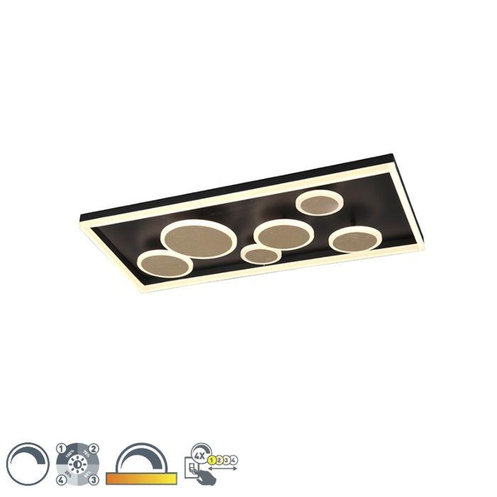 Plafón-diseño-negro-80cm-regulable-3-estados-LED---NICKY
