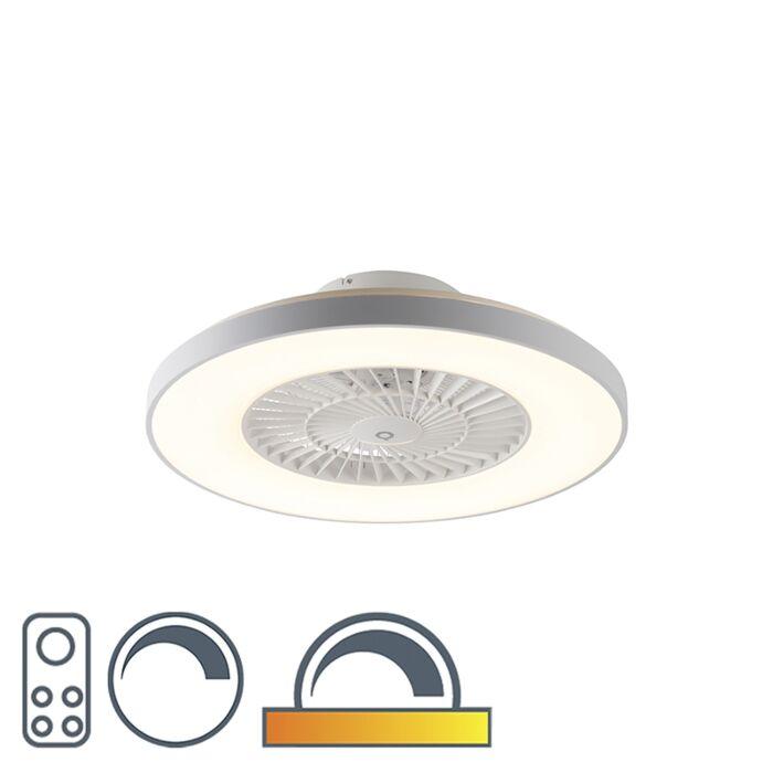 Ventilador-de-techo-blanco-efecto-estrella-regulable---CLIMO