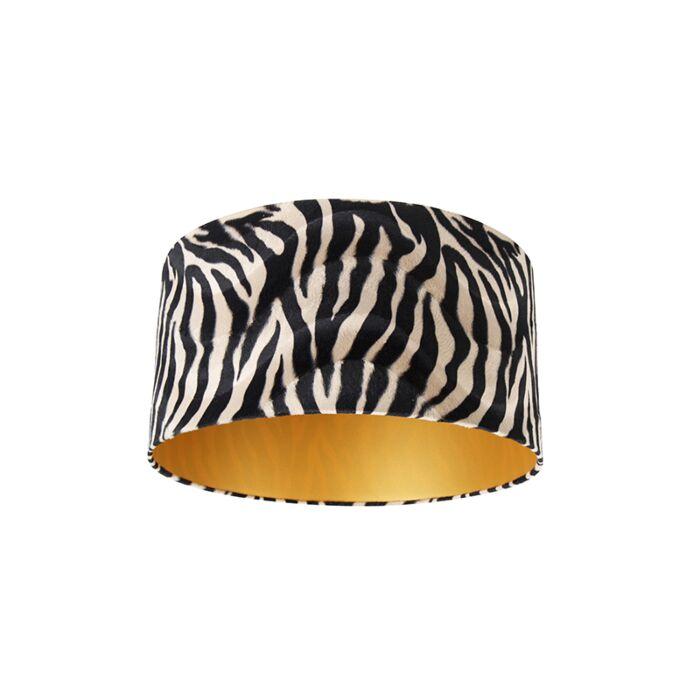 Pantalla-terciopelo-diseño-cebra-50/50/25-dorado-interior