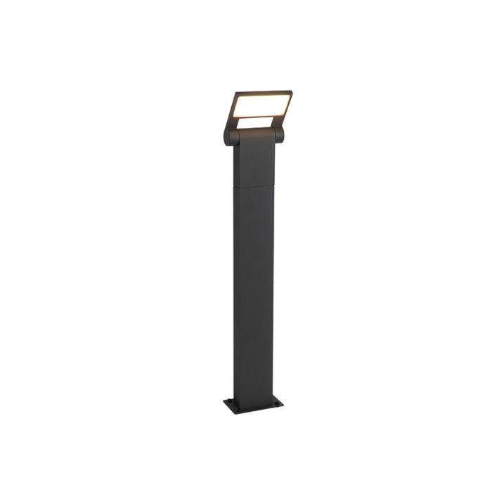 Moderne-buitenpaaltje-grijs-incl.-LED-IP54---Zane