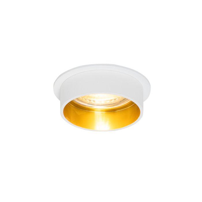 Foco-empotrado-moderno-blanco-dorado---INSTA